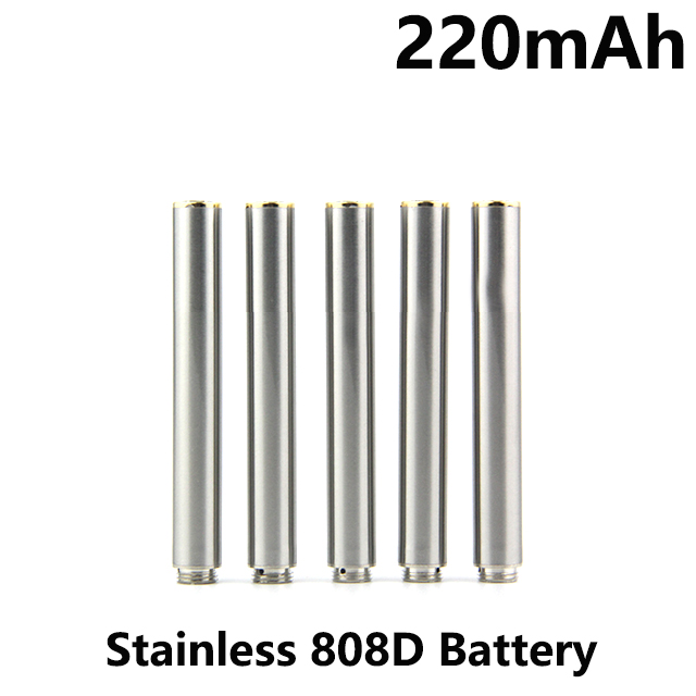 220mah stainless 808d batteries