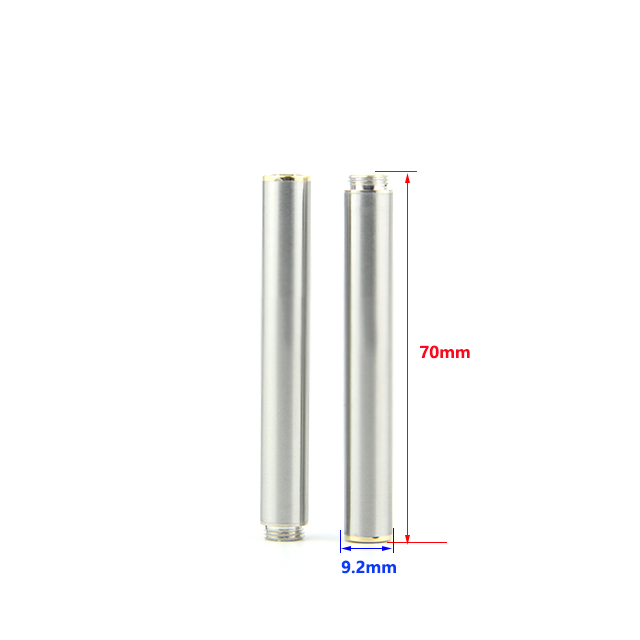 Size of 220mah stainless 808d batteries