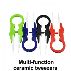 Vapor twizer round multi-function new electronic cigarette atomizer removal tool ceramic tweezers clip