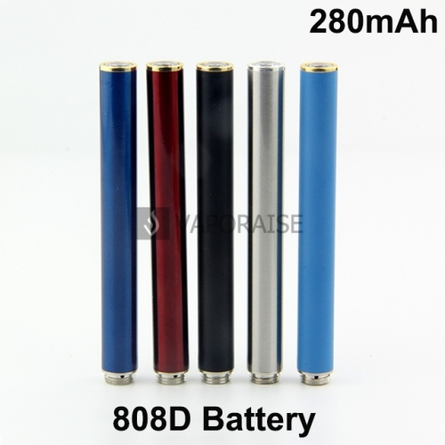 280mAh 808D Auto Battery With Bottom Diamond Blue or Red LED Light  Available
