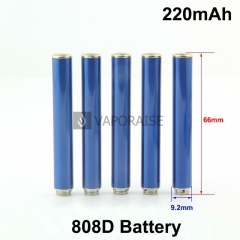 Blue Color 220mAh 808D Auto Battery With Bottom Diamond