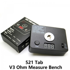 521 Tab V3 Ohm Measure Digital Resistance Test Bench for DIY RDA RBA Atomizer Heating Wire Table