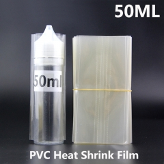 Transparent PVC Heat Shrink Film For 50ML Chubby Gorilla E-juice Bottles