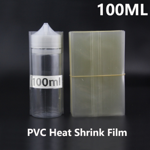 Transparent PVC Heat Shrink Film For 100ML Chubby Gorilla E-juice Bottles