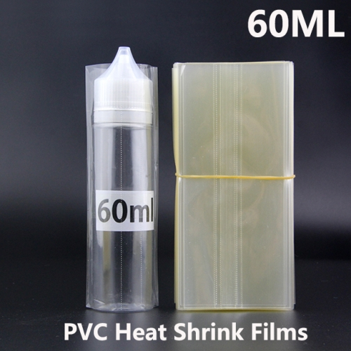 Transparent PVC Heat Shrink Film For 60ML Chubby Gorilla E-juice Bottles