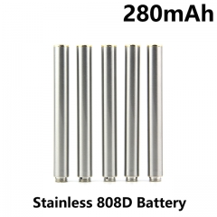 Stainless Color 280mAh 808D Auto Battery With Bottom Diamond