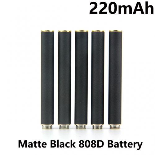 Matte Black 220mAh 808D Auto Battery With Blue / Red LED Light Bottom Diamond