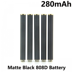 Matte Black Color 280mAh 808D Auto Battery With Bottom Diamond
