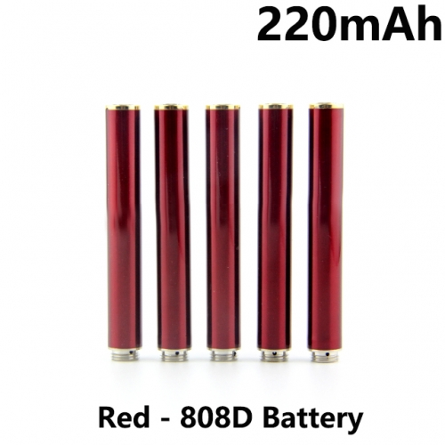 Red Color 220mAh 808D Auto Battery With Bottom Diamond