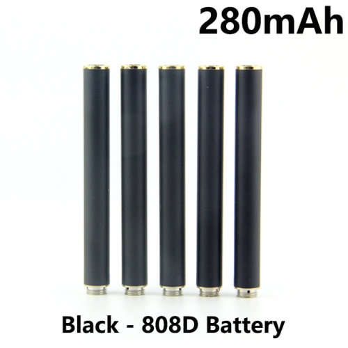 Black Color 280mAh 808D Auto Battery With Bottom Diamond