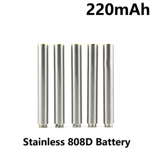 Stainless Color 220mAh 808D Auto Battery With Bottom Diamond