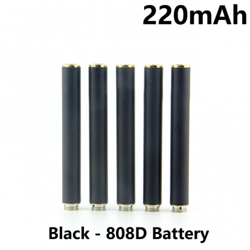 Black Color 220mAh 808D Auto Battery With Bottom Diamond