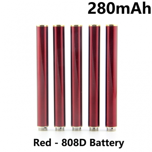 Red Color 280mAh 808D Auto Battery With Bottom Diamond