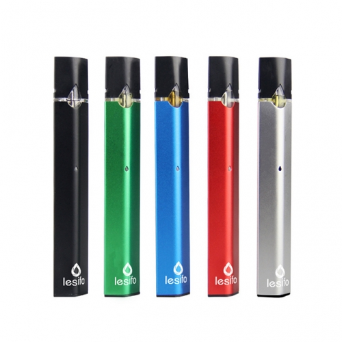280mAh Lesifo drop flat vape pen pod kit with 1ml cartridge