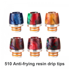 510 Anti-frying Resin Mouthpieces / Drip Tips For E-cigarette
