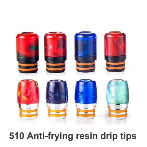 510 Anti-frying Resin Drip Tips | 510 Thread Resin Mouthpieces For E-cigarette