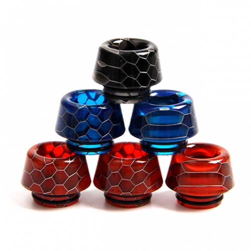 Cone Shape Snake Skin 810 Resin Mouthpieces Colorful 810 Drip Tips