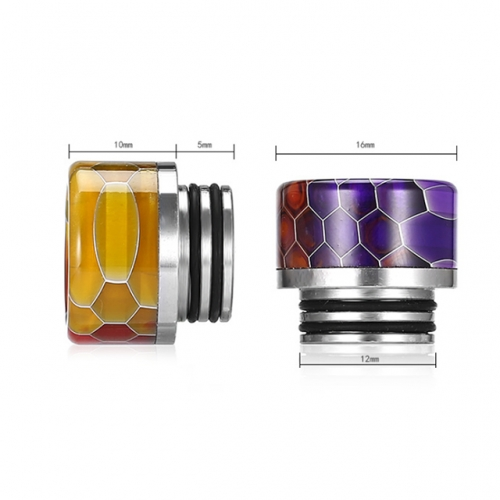 Snake Skin TFV8 Resin and Stainless Steel 810 Drip Tips TFV8 Mouthpieces